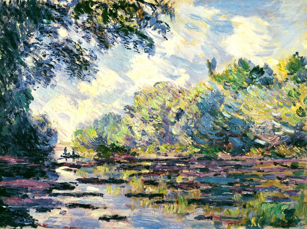 Monet - section of the seine, near giverny