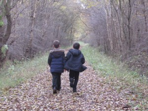 This is me on the Right in the woods